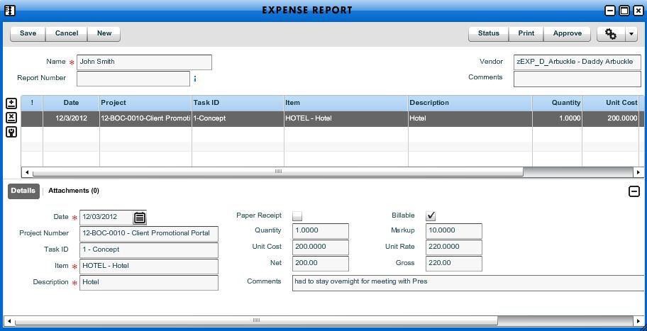 Add New Expense Report  Workamajig Online Help Guide