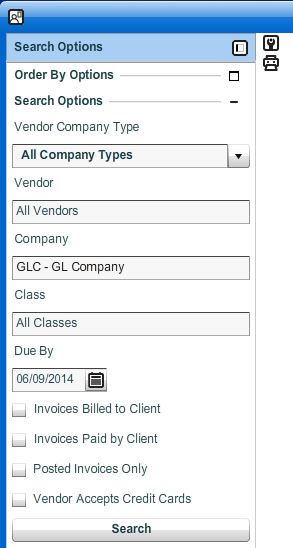 1) Setup The Search Options To Display The Vendor Invoices You Would Like  To Pay  Payment Invoices