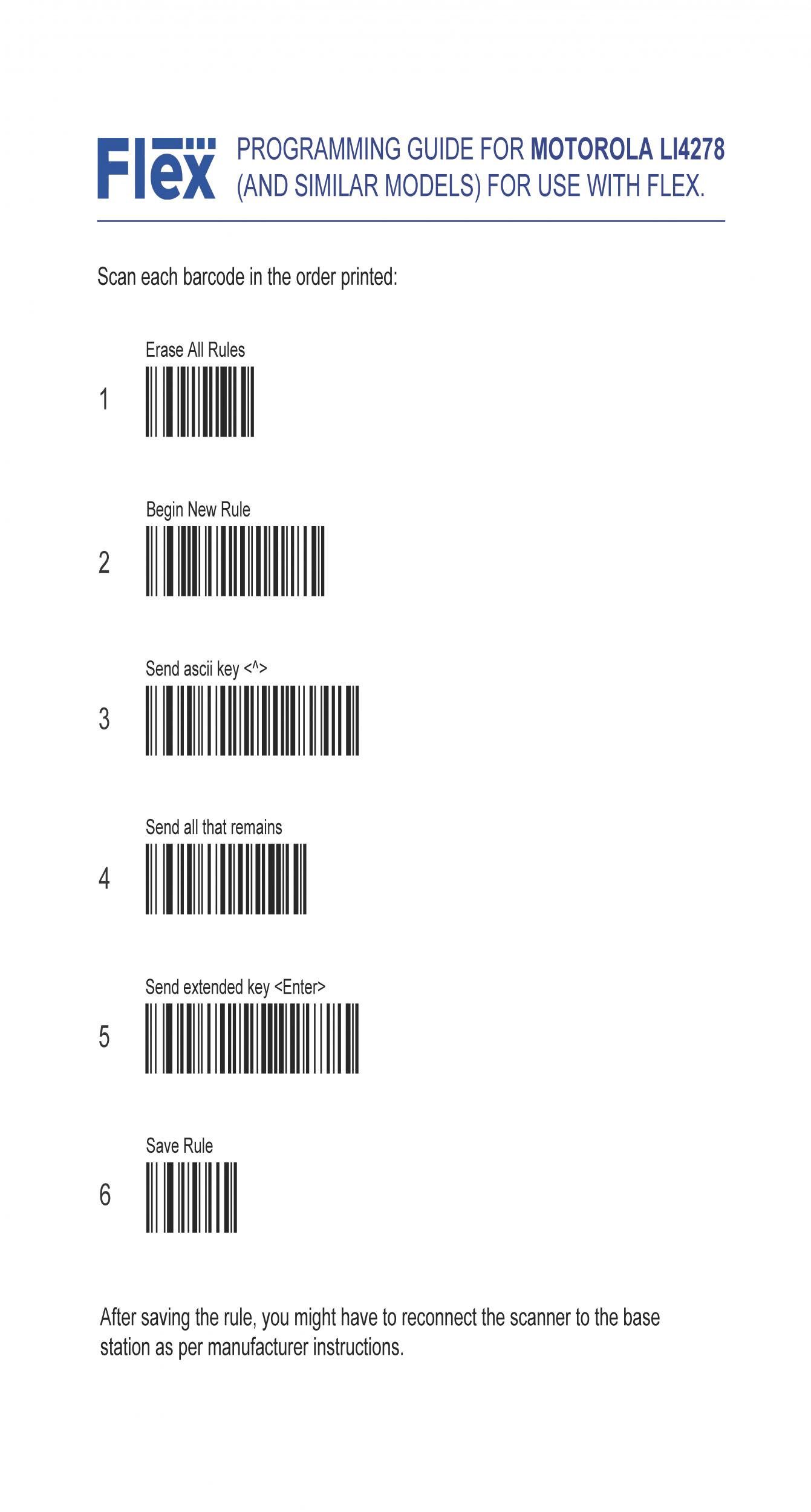Configuring A Barcode Scanner Flex Rental Solutions Starter Kit