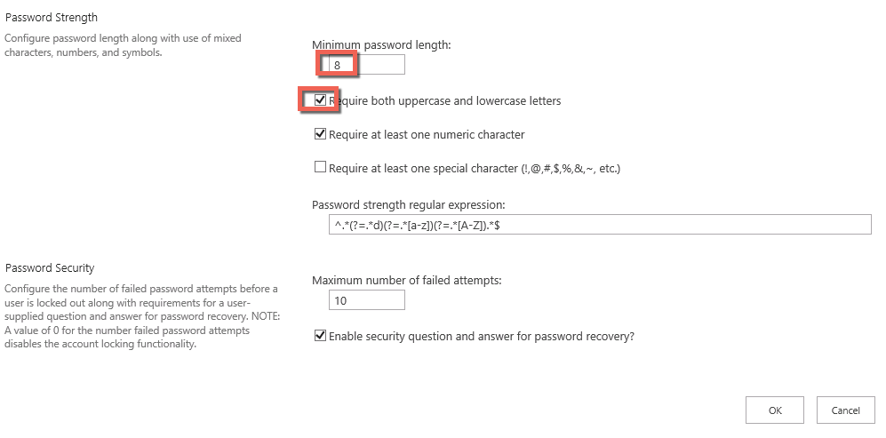 Set Password Policies | ExCM Doc