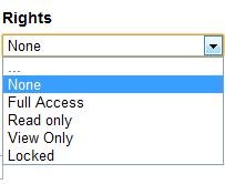 Rights Dropdown