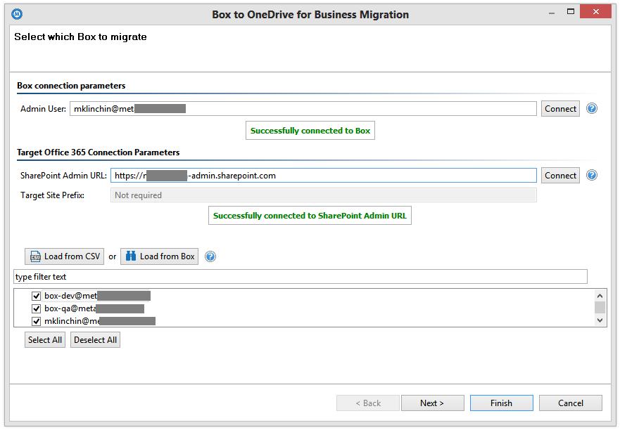 Copy Box to OneDrive for Business - Metalogix Desktop User Manual