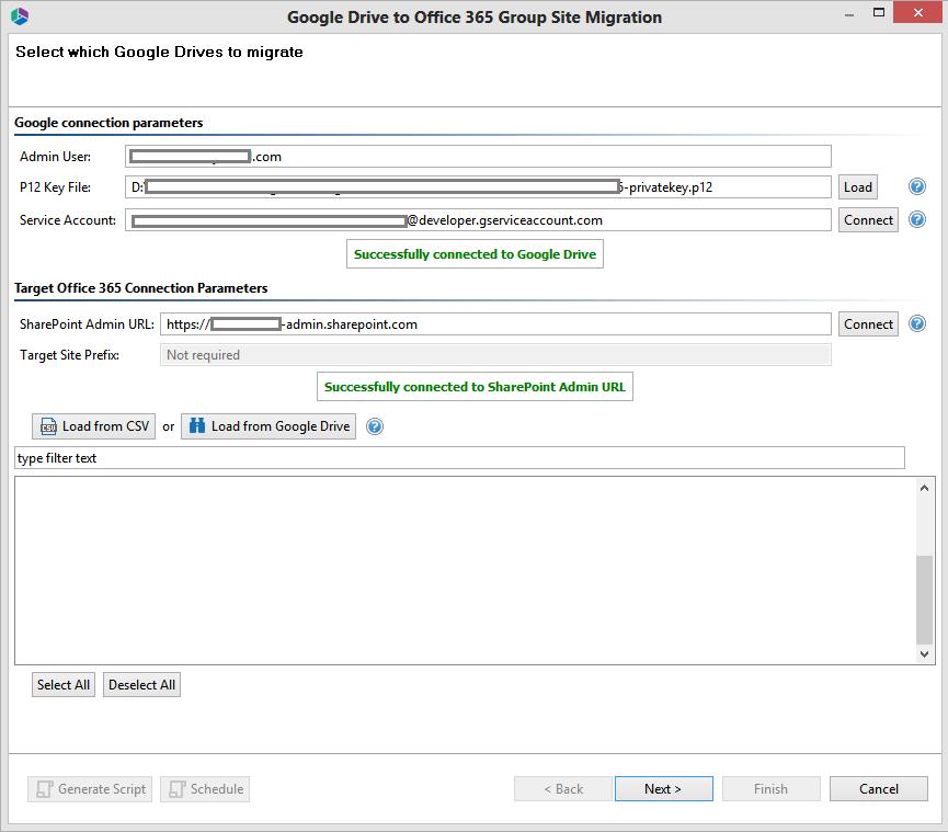 Copy Google Drive to an Office 365 Group Site - Metalogix Desktop