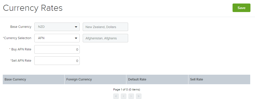 Currency Rates - Unleashed Inventory