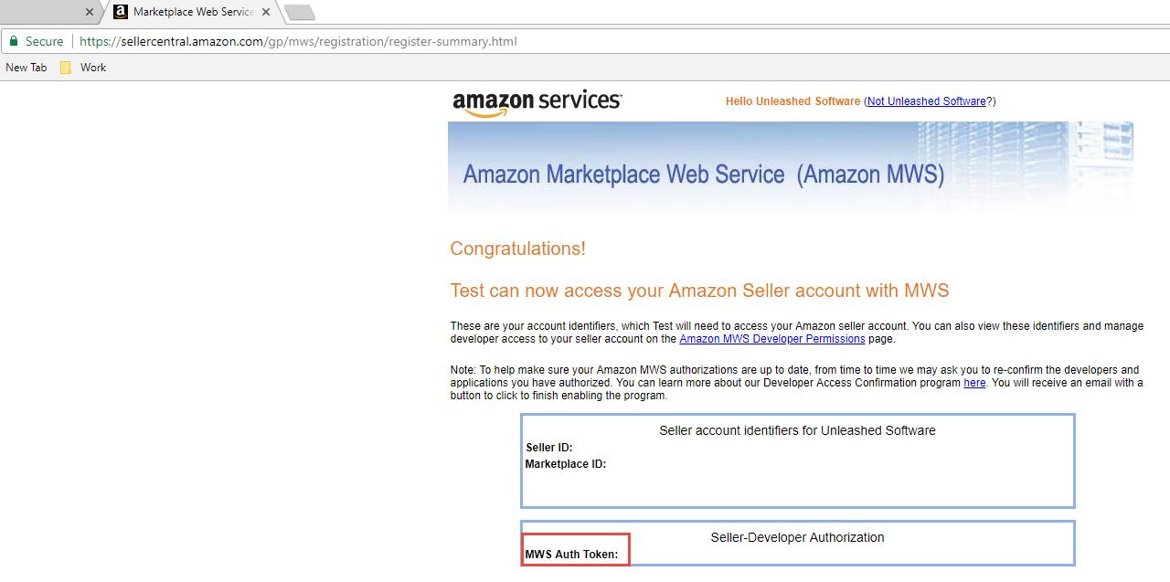Amazon Integration Setup - Unleashed Inventory