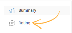 Navigate to Reports >> Rating.