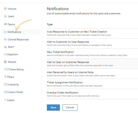 You can view and edit templates of the email notifications in Settings >> Notifications.