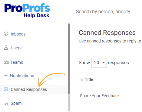 Use canned responce for reply to customer