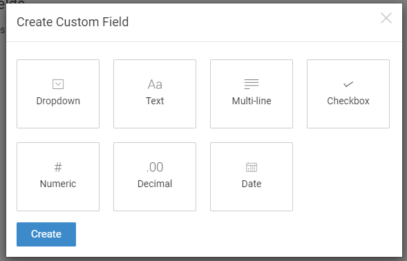 There are seven types of custom fields that can be created in ProProfs Help Desk.