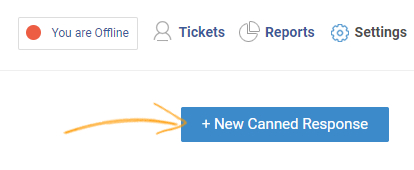 Locate and click the New Canned Response button.
