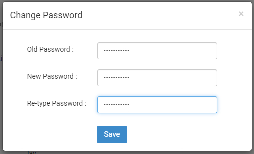 Enter Old Password and New password.