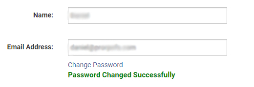 You will receive a password change confirmation.