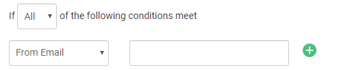 The 'If' section is used to add the conditions thatwill be used to segregate the tickets.