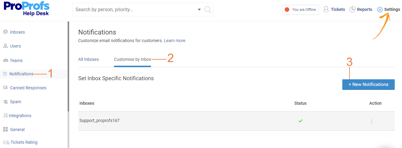 Customize email notifications