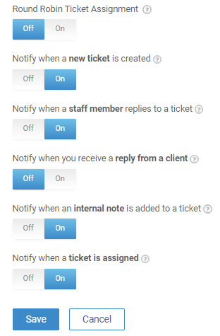 Email notifications for agents
