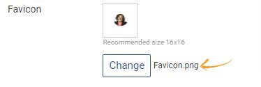 Uploading Favicon
