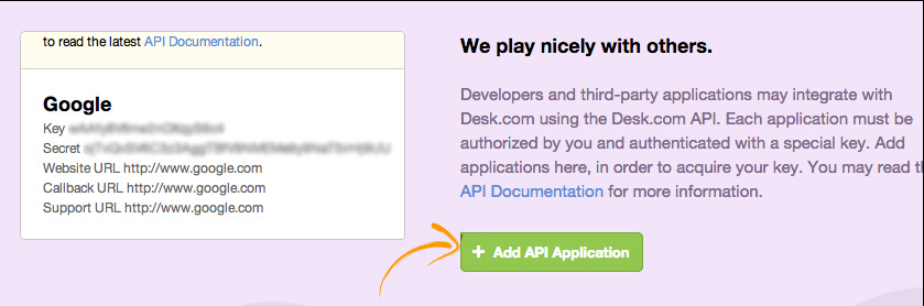 Amazing Now From The API Page Click Add API Application.