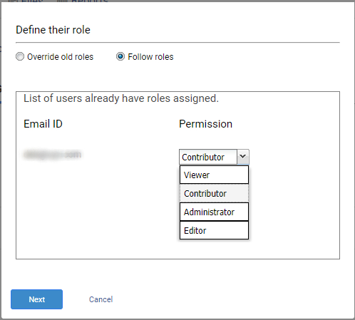 Define user roles in knowledge base