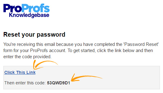 How to Reset Your Password - ProProfs Knowledgebase FAQs