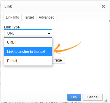 Use link anchor