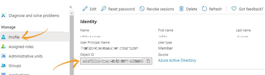 Azure AD object ID