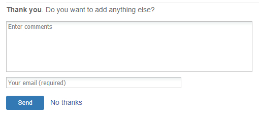 Feedback survey question