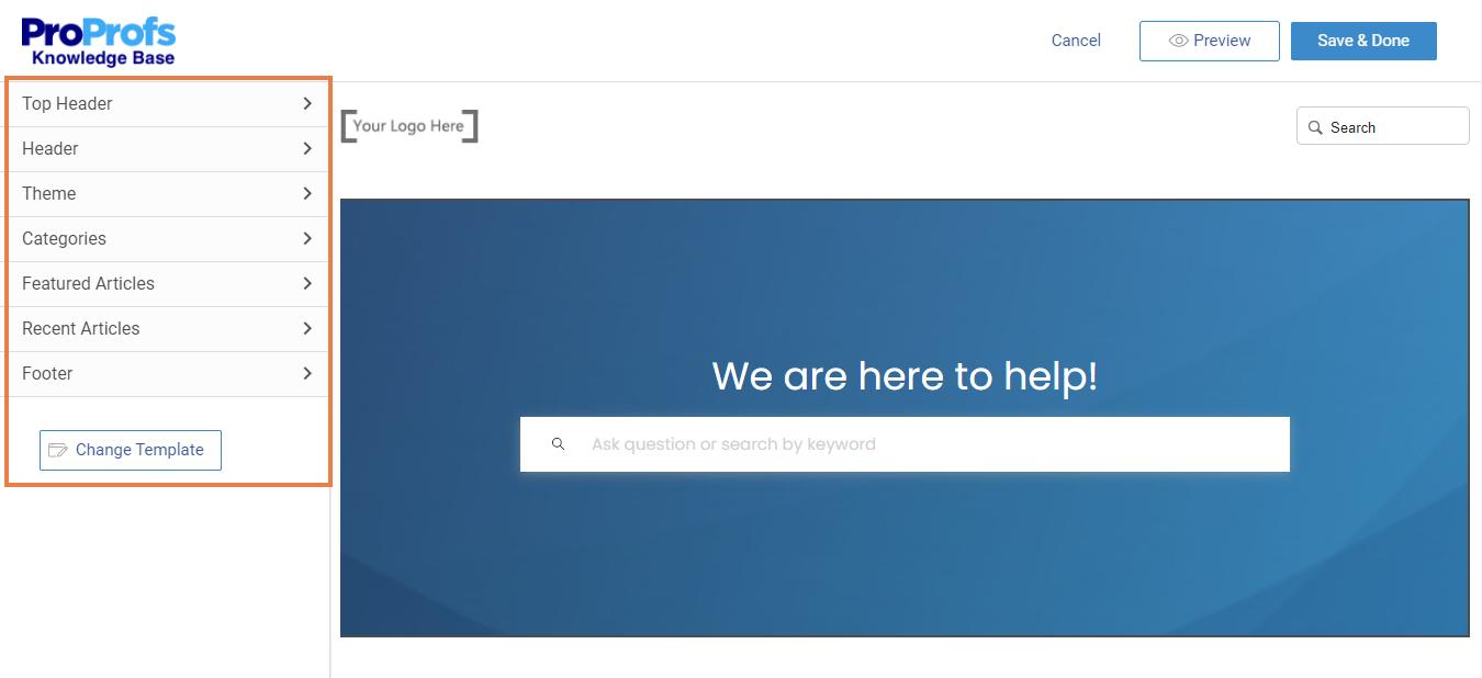 Homepage customization