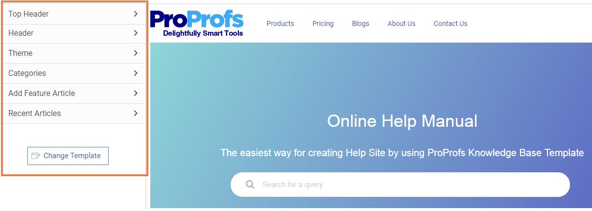 Customize homepage