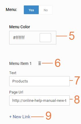 Customizing homepage top header