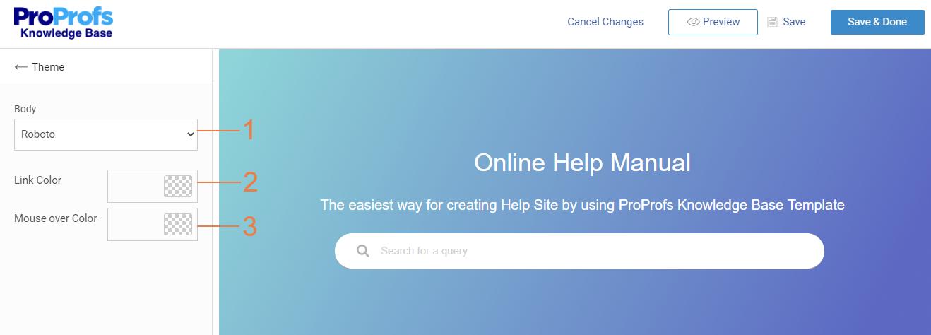 Customize homepage theme