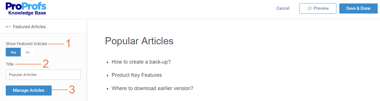 Add featured articles on homepage