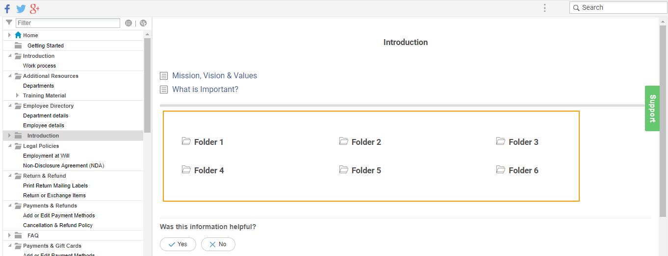 Folder Page Style for better navigation