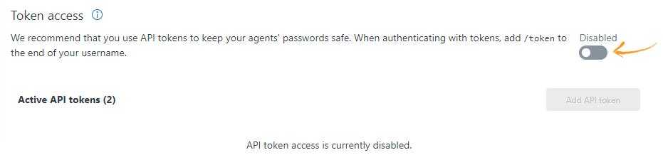 Enabling Token Access