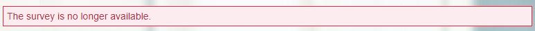 Survey availability expired message