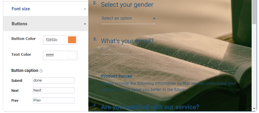 Submit Buttons in online surveys
