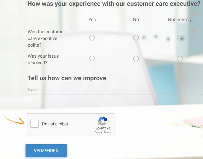 Captcha for online surveys