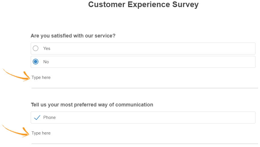 Add comments to an online survey question