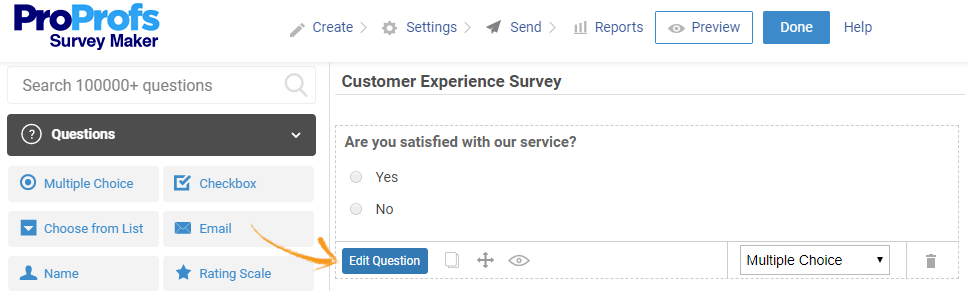 Edit online survey