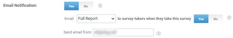 Email notifications for online surveys