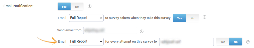 Email notifications for surveys