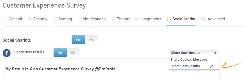 Share survey results on social media
