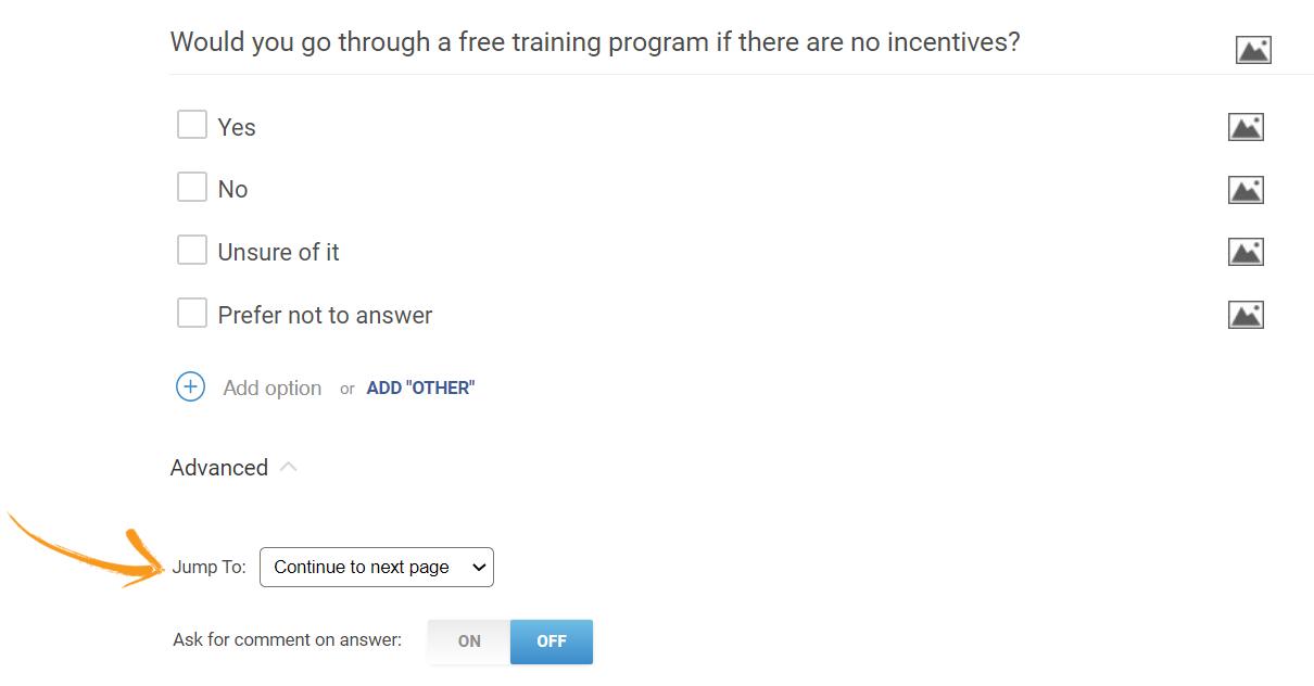 Branching in checkbox question