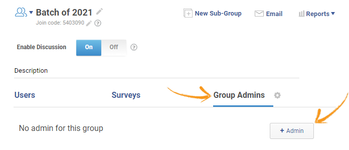 Group admins
