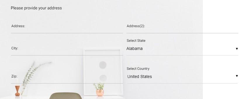 Address in survey