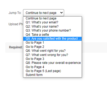 Branching in surveys