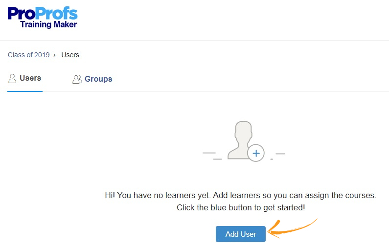 Add users to online classroom