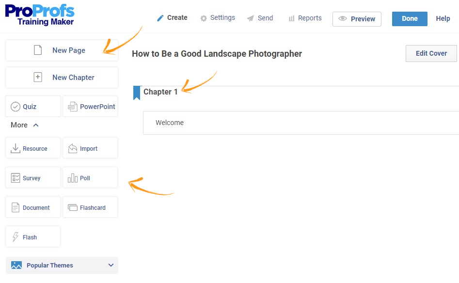Add chapters, pages, and more