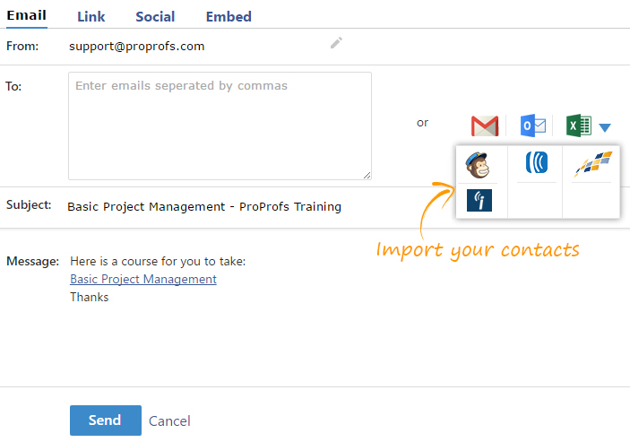 How to Send Course Invites to Learners in Bulk - ProProfs