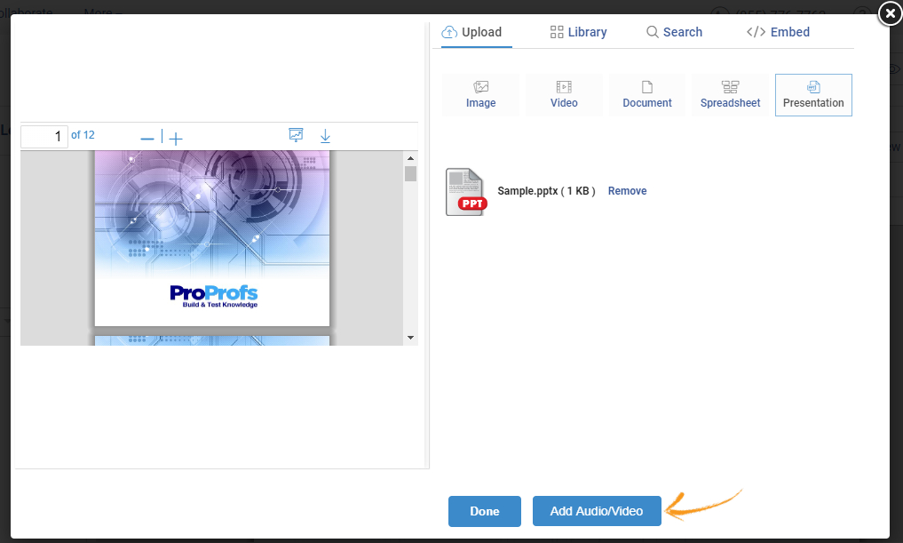 Add audio and video to PPT online