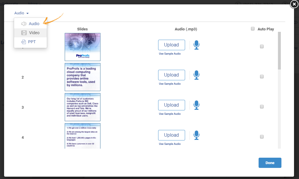 Edit presentation online